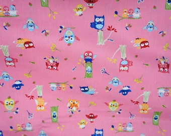 Owl   print Japanese Fabric nc41