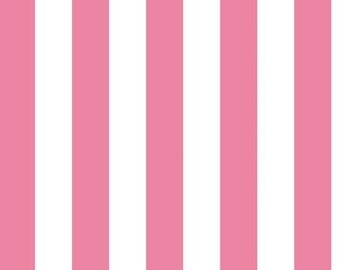 One (1) Yard - Riley Blake One Inch Stripe Fabric C540-70 Hot Pink