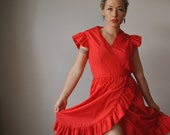1970s Spanish Dancer dress, size extra small (0/2)