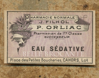 Antique Vintage French Apothecary Perfume Label 69