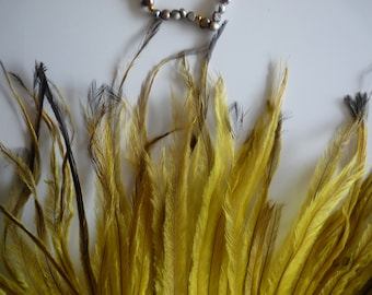 EMU  FEATHERS , Mustard Yellow, Chartreuse  /  683