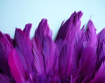 VOGUE GOOSE Feathers,  Fuchsia, Light Sangria / 788