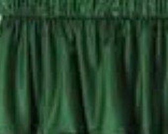 NEW Window Curtain Valance Valances  home made from Solid Hunter Green Cotton fabric