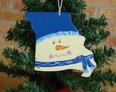 Missouri Snowman Ornament