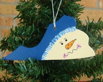 Virginia Snowman ornament