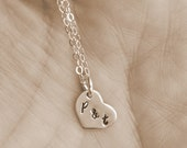 Heart Charm with Initials by I Heart This Jewelry
