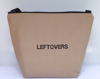 Insulated Large Lunch Bag Man Lunch Bag Brown Work Leftovers lunch tote by BonTons