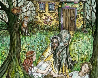 Hansel and Gretel - Art Print