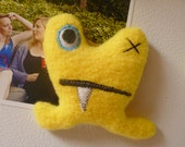 Plush Monster Magnet in Yellow