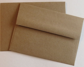 BBE6  50 A6 70 lb.Recycled Brown Bag Envelopes 4 3/4 x 6 1/2 (12.07cm x 16.51cm)