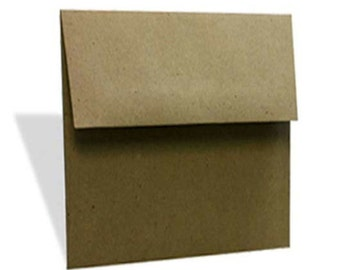BBE5  50 5x5 (12.7cm x 12.7cm) 70 lb.Recycled Brown Bag Envelopes 100% Recycled