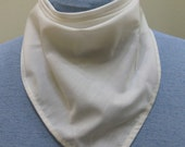 Solid color bandana tracheostomy stoma cover scarf - with or without velcro closure