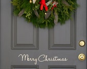 Merry Christmas Holiday front  door decal (first class shipping)