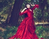 Mina Dracula Victorian Bustle Gown Halloween Gothic Custom Gown any Color or Size