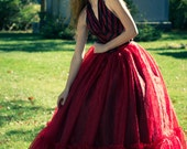 HUGE red crushed voile petticoat/skirt sheer by DarkSpectre (sample)