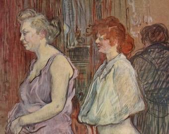 La Visite: Rue des Moulins by Toulouse-Latrec - a Frameable, Vintage 1954 Frameable Art Print