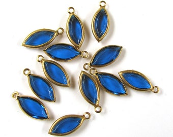 Vintage Lucite Blue Navette Channels 24