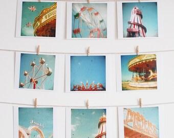 Carnival photography, Retro, Colorful, Ferris Wheel, Carousel, Teenage Decor, Nursery Art, Photo Collection, Gift Ideas - Fair