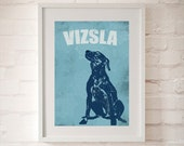 Vizsla Dog Art - Dog Wall Art, Vizsla Gifts, Dog Gifts, Gift for Dog Lovers, Dog Wall Art , Gift Ideas, Dog Art Prints
