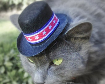 Cat Hat - Stars and Stripes Patriotic Top Hat