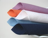 100% Wool Felt Fabric Sheets - Spinnaker Sail Color Story - Set of Five Colors - Baby Blue, Navy, Coral, White, Lilac