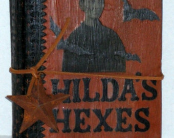 Halloween Altered Book - Hilda's Hexes
