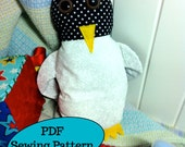 Pepper the Penguin PDF Sewing Pattern, easy baby children beginner quick fun