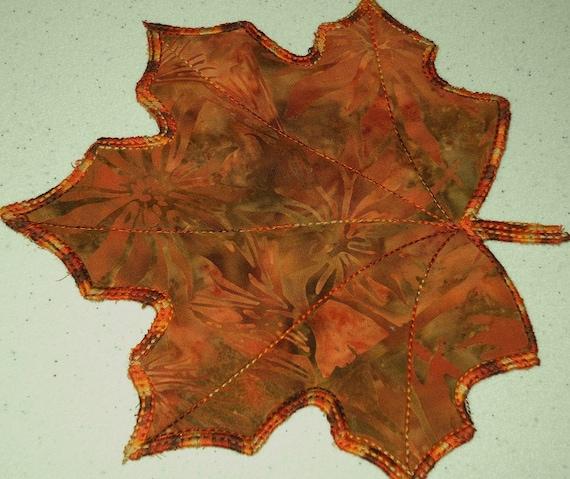 Fall Leaves Batik Applique Mug Rugs By Pdqdesigns On Etsy