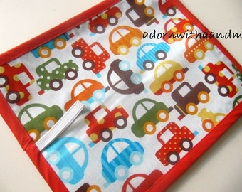 Chalkimamy Anne Kelle cars TRAVEL chalkboard mat placemat (a)