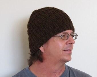 CUSTOM Knit Men's Wool Beanie in a Broken Rib Design