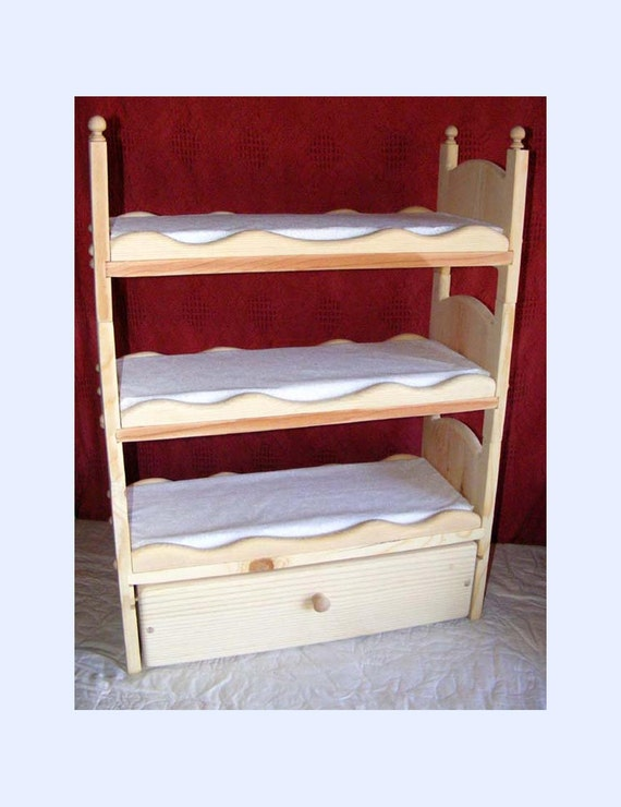 Items similar to Stackable American Girl Triple Doll Bunk