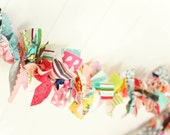Scrap Fabric Garland *BY THE FOOT* photo/party prop