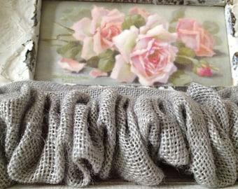 Burlap French Paris Gray Velcro End to End Chandelier or Cord Cover - Weddings - Paris Apt - Cottage Decor