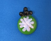 Purple and Green Glass Flower Pendant