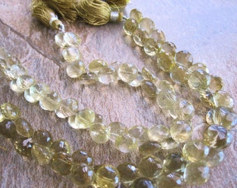 AAA Whiskey Quartz Beads, aka Beer Quartz Beads Faceted Onion Briolettes, 8mm onion briolettes, Loveofjewelry, SKU 3387A