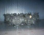 Glass LAMP BOBESCHE Antique Czech Flower Cups lighting chandelier sconce LOT