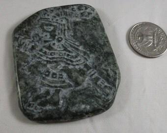 Mayahuel Aztec carving on Guatemalan Jadeite