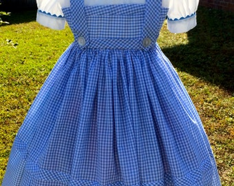 Wizard of Oz inspired Adut Dorothy costume / Sizes 6 thru 22 /  Adults