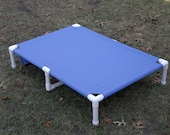 """Dog Bed Extra Large Bed, Great Dane PVC Dog Cot With Middle Support 13 CANVAS COLORS 38""""x55"""" Large To Smaller X Large Dogs Up To 160 Pounds."""