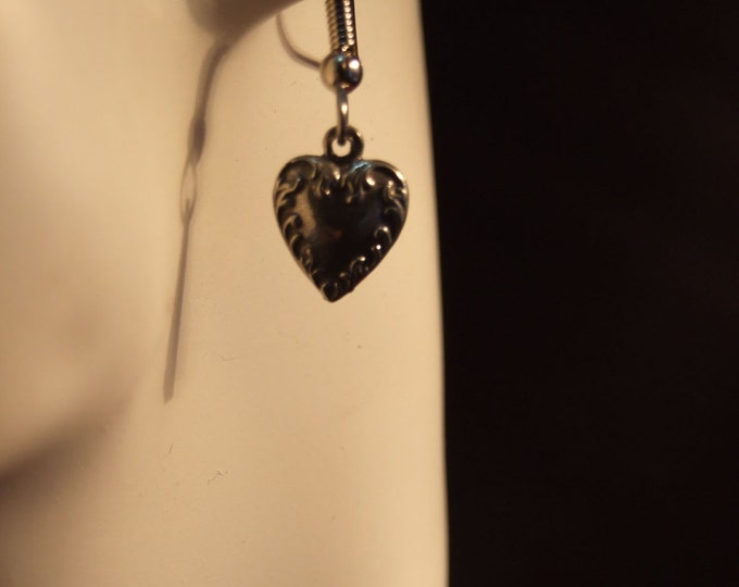 Celtic heart small earrings made with Australian Pewter and Surgical Steel hook