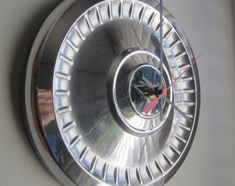 1962 Chevy II Hubcap Clock no.2047