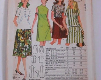Vintage 60s Dress Pattern McCalls Quaker Oats M 44 Size 16 18 Large Bust 38 40 UNCUT