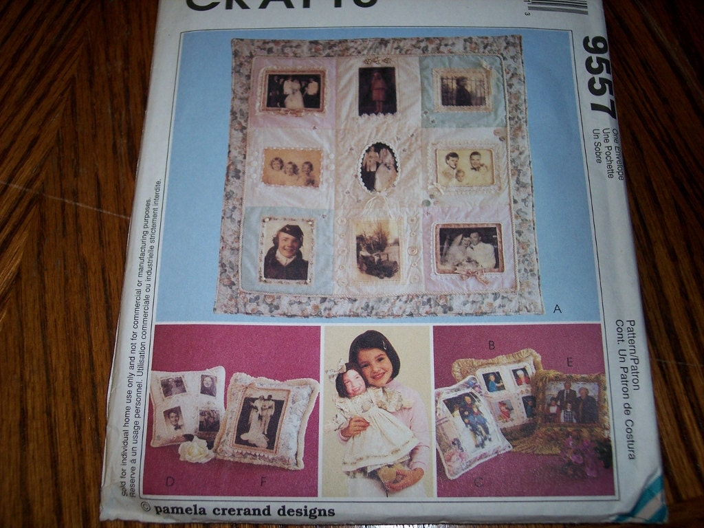 McCalls Crafts 9557 Memory Quilt Pattern new uncut