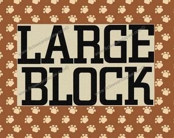 Large Block Alphabet Machine Embroidery Design