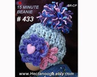 CROCHET PATTERN  hat,  Unisex 15  Minute Beanie, crochet hat pattern, hat crochet pattern, #433,  baby to adult sizes, pdf digital pattern