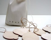 SALE bag of wooden pendants