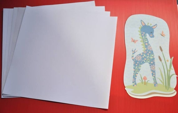 Printable Vinyl Inkjet Printer Adhesive Backed 2 Sheets