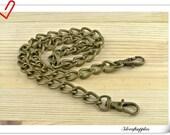 56cm (22 inch )  heavy duty anti brass metal purse chain  metal chain Z27