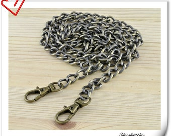 106cm (42 inch )  heavy duty Polish anti brass metal purse chain shoulder chain metal chain Z33