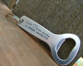 Even Mama Needs A Bottle Sometimes Custom Hand Stamped Aluminum Bottle Opener Keychain by MyBella